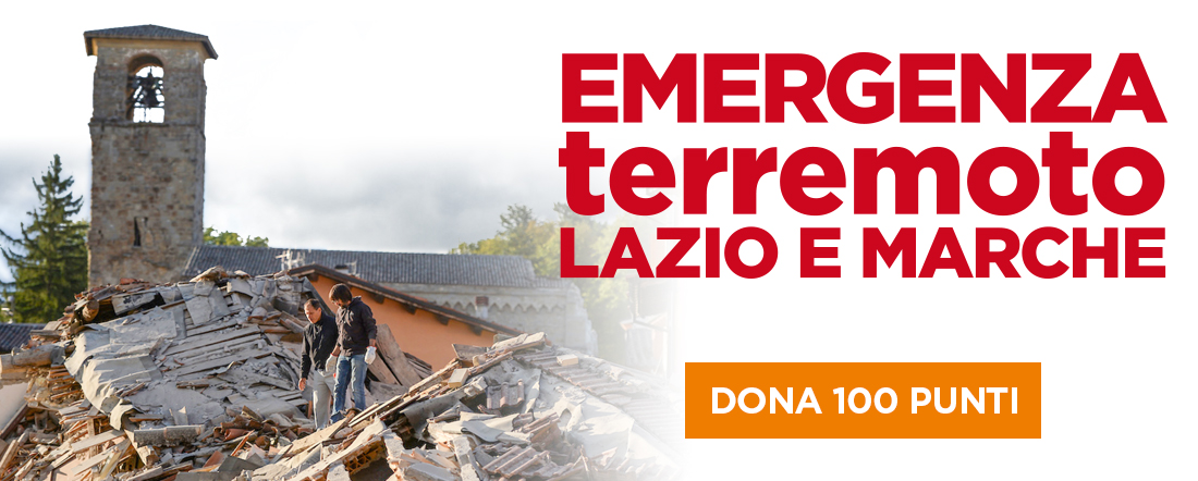 Donazione terremoto