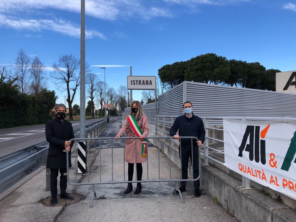 Inaugurata la pista ciclo pedonale a Istrana