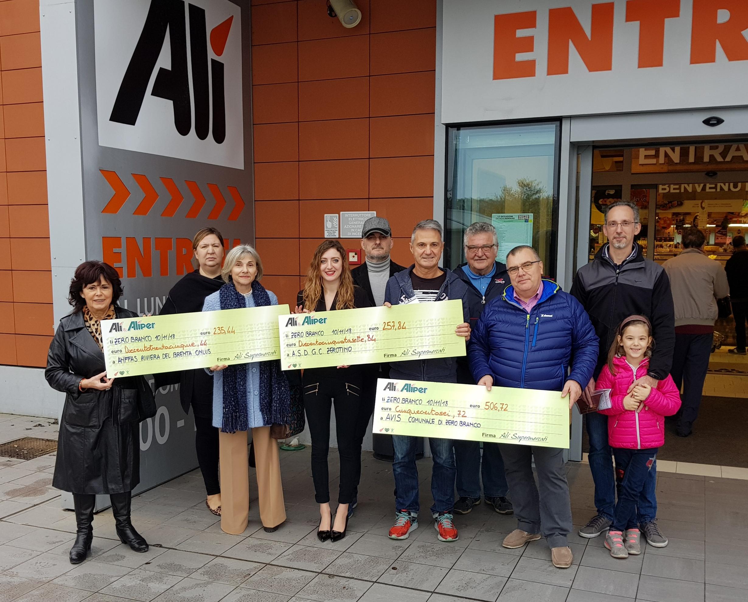 Le donazioni di We Love People vanno a Monselice, Zero Branco e Rubano!