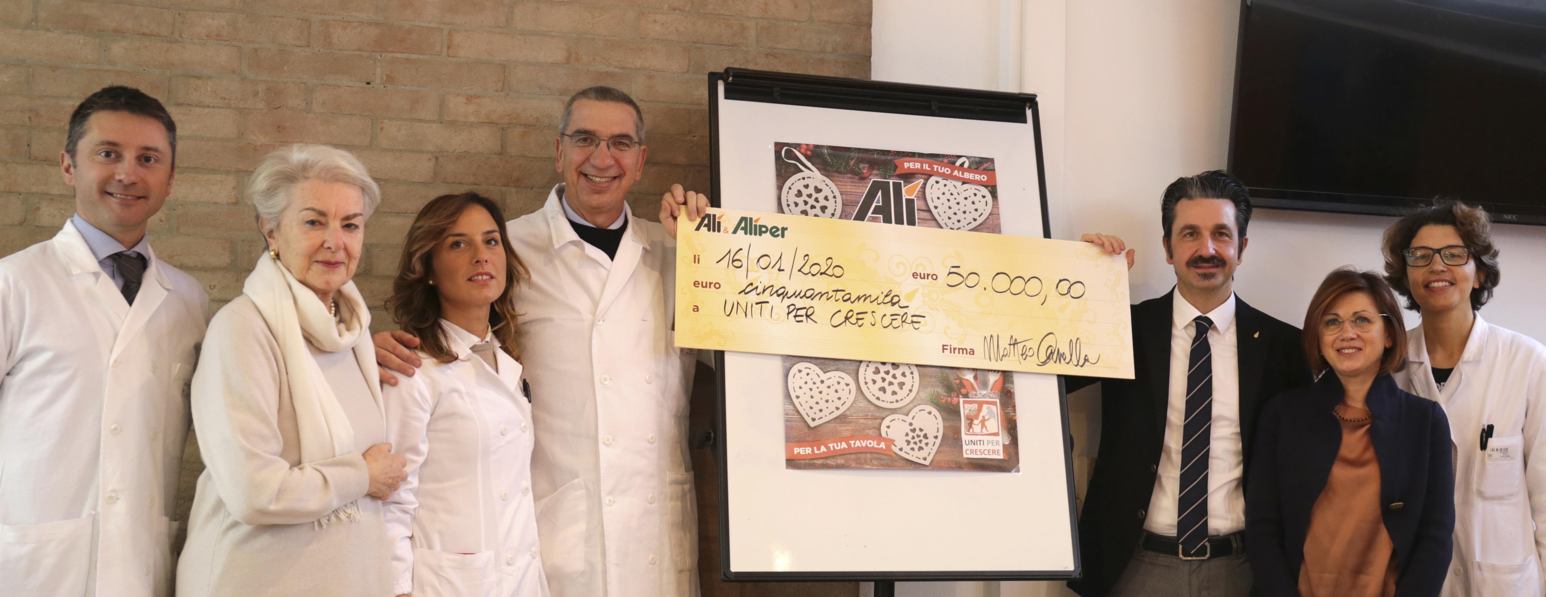 Alì consegna 50.000€ alla Neurologia Pediatrica dell'Ospedale di Padova
