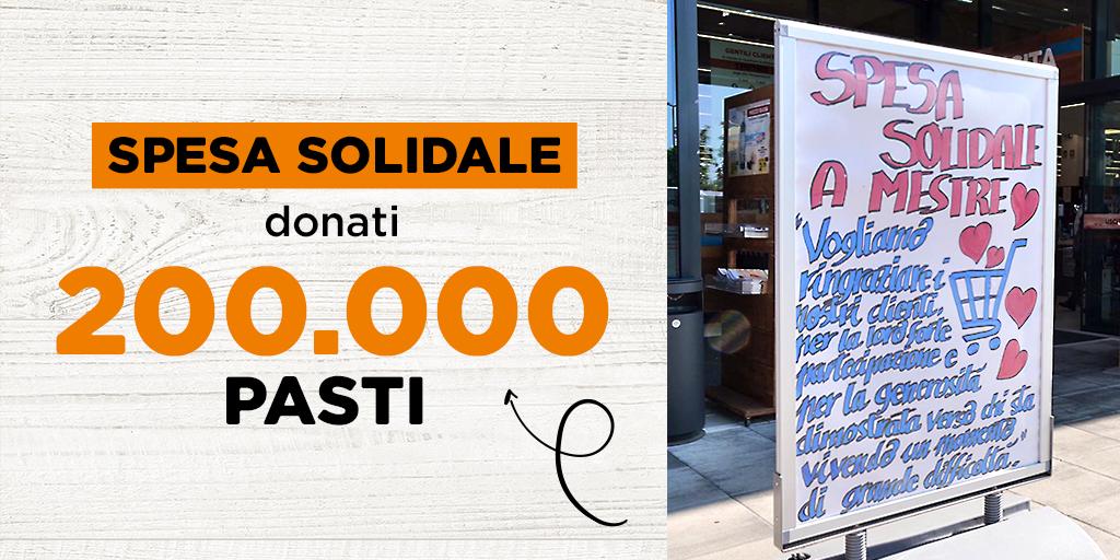 Oltre 200.000 pasti donati dai clienti Alì con la Spesa Solidale