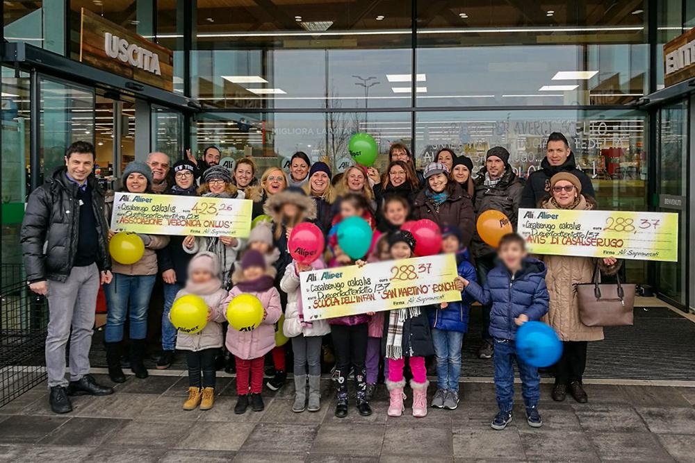 3000 € nelle casse delle associazioni di Casalserugo, Cavarzere e Rubano, grazie a We Love People
