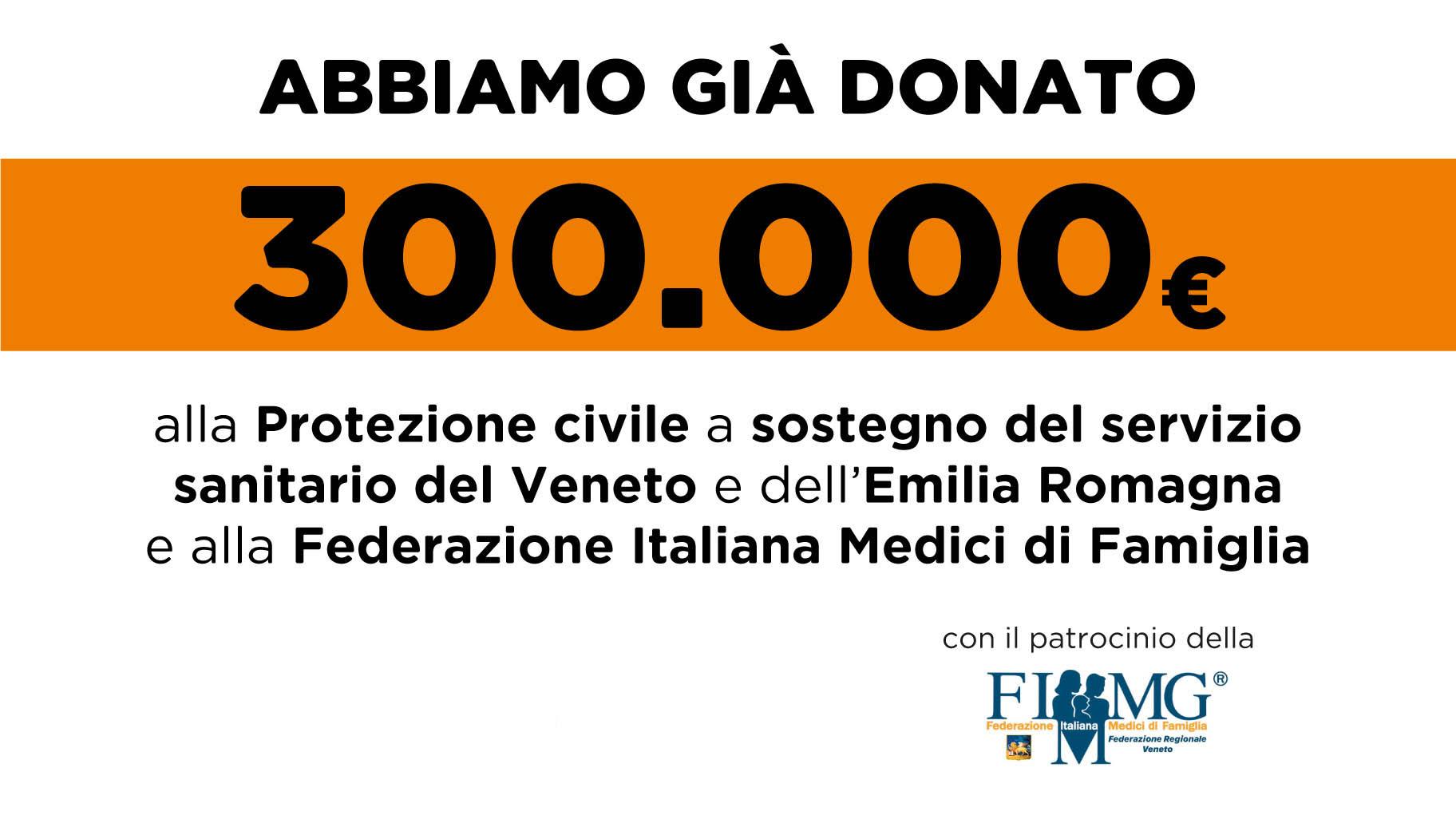 Raccolta fondi a sostegno del Servizio Sanitario del Veneto e dell'Emilia Romagna