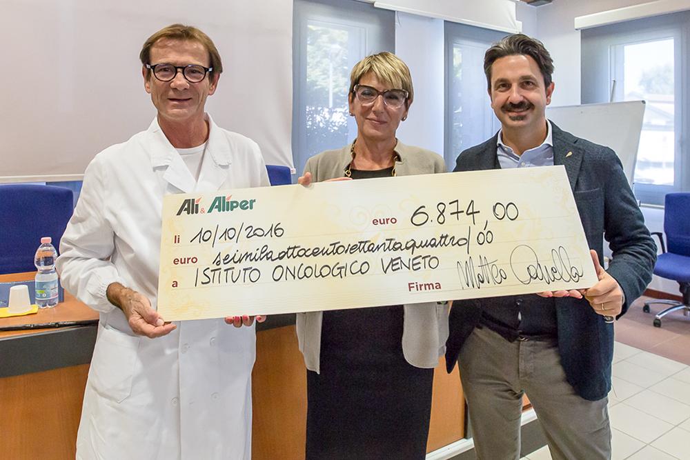 Alì e IOV contro il cancro: 248.448 € raccolti dal 2010