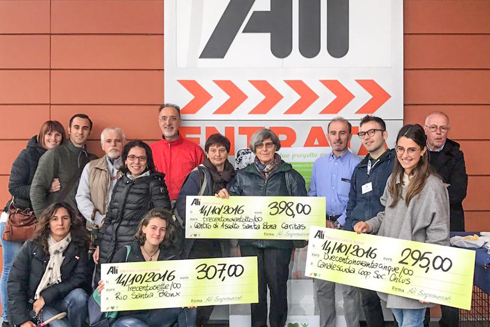 We Love People ha premiato 3 associazioni all'Ali di Treviso quartiere Santa Bona