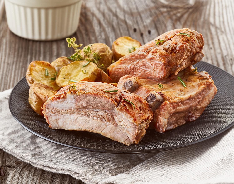 Costine di maiale cotte al forno