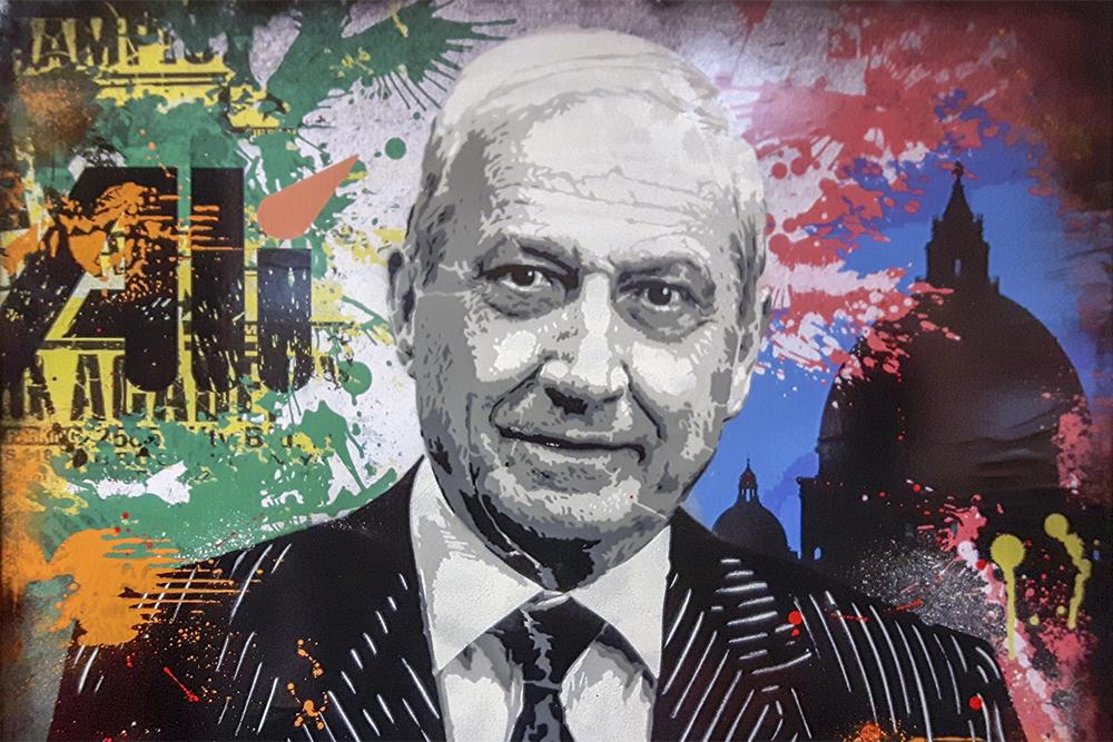 Francesco Canella a 86 anni diventa IKONA Padovana per l'artista Alessio-B