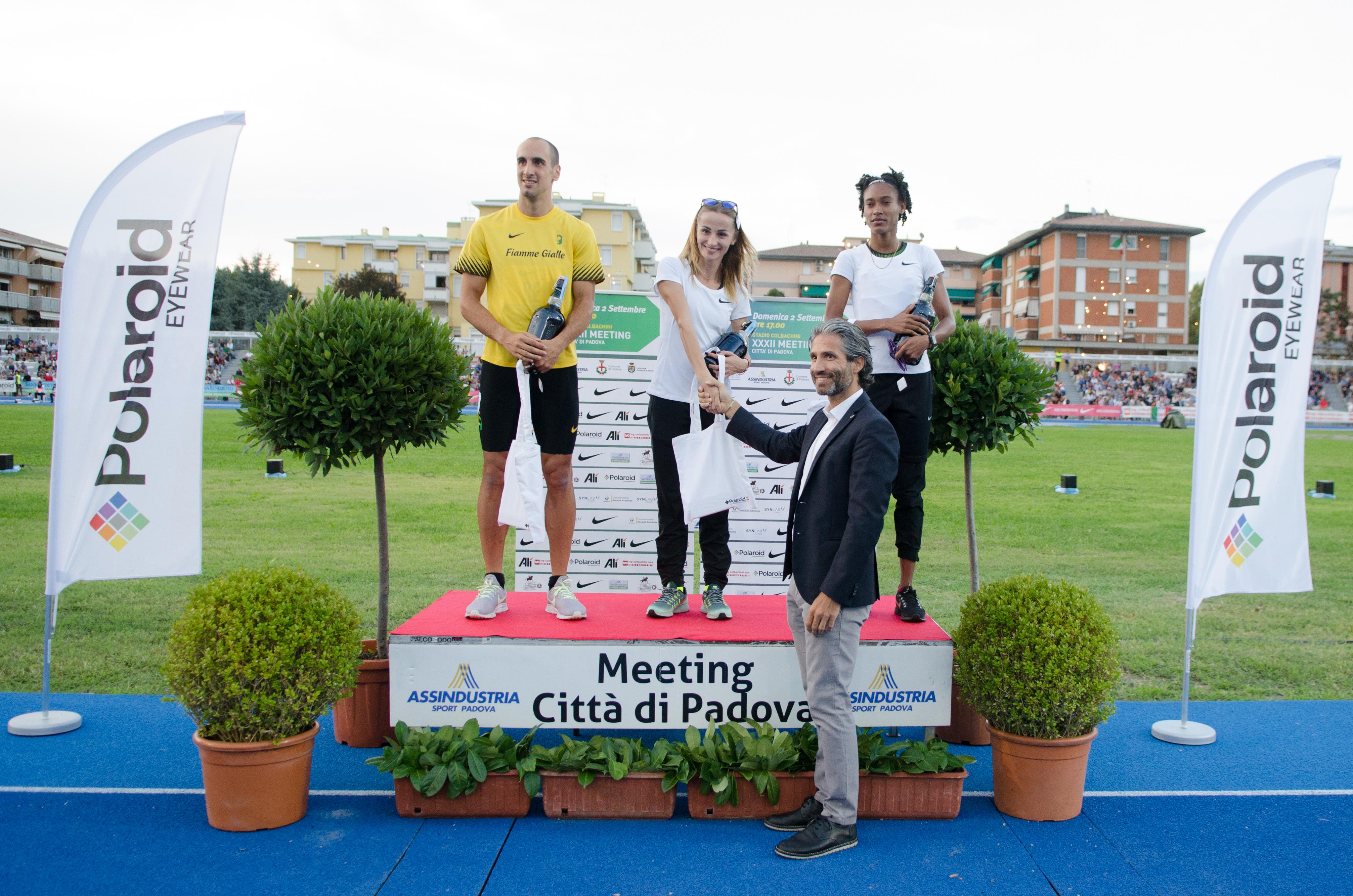 Alì all'inaugurazione ufficiale dello Stadio Colbachini con il XXXII Meeting Città di Padova
