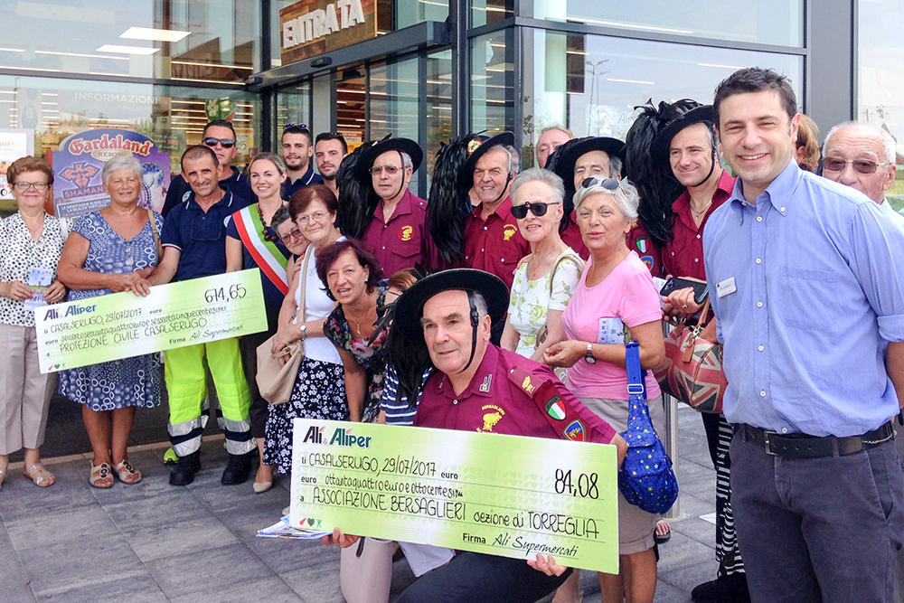 Altri 4000 € dal Gruppo Alì alle associazioni del territorio di Istrana, Rubano, Casalserugo e Zero Branco.