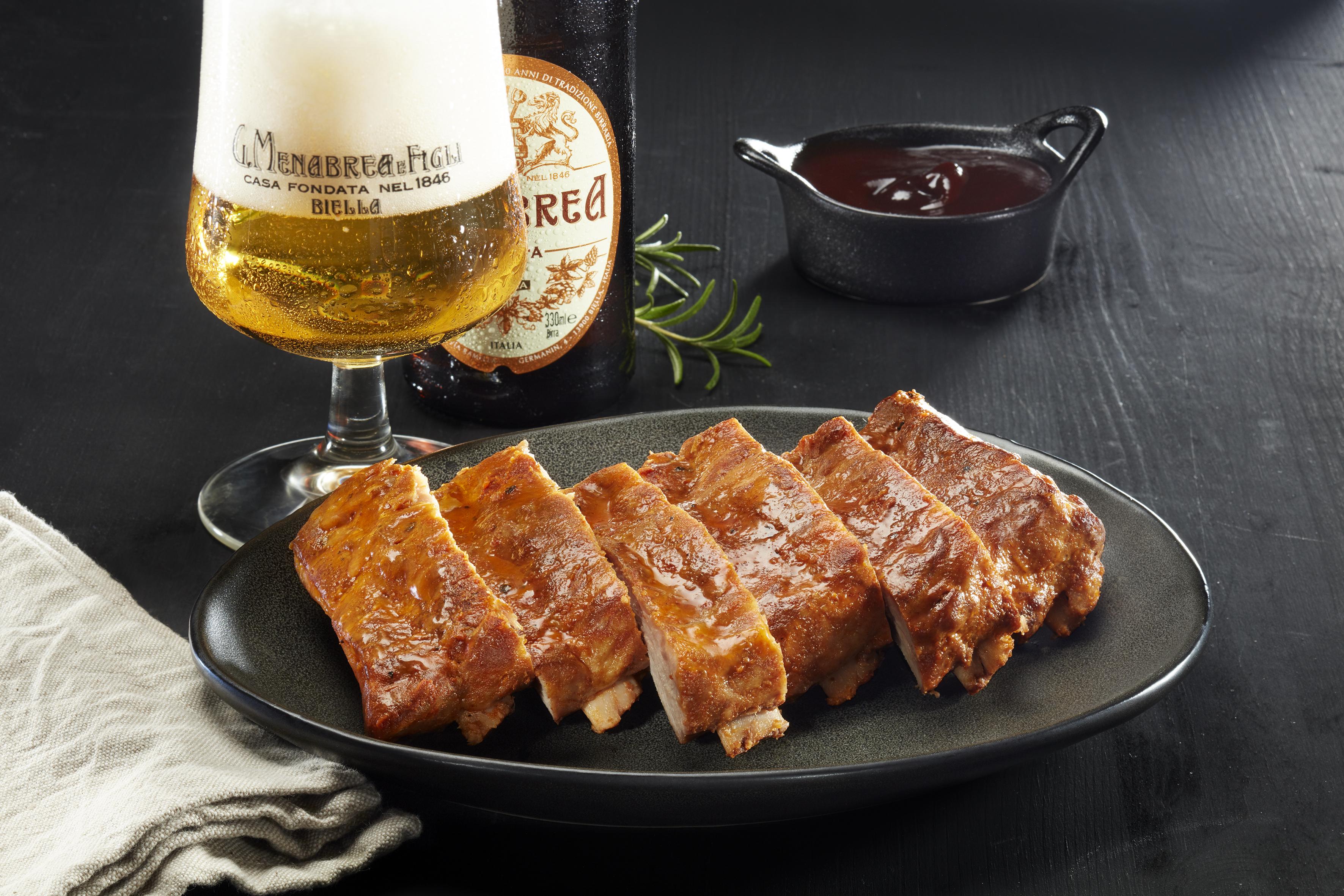 Costine di maiale original barbecue alla birra Menabrea