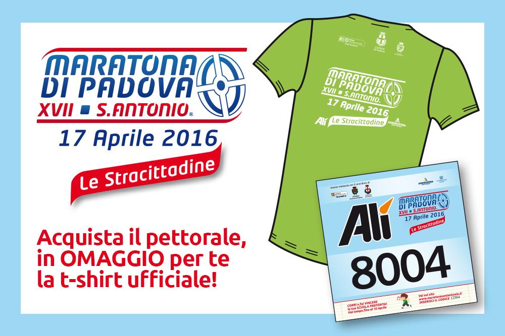Acquista subito il pettorale per la Maratona del Santo 2016!