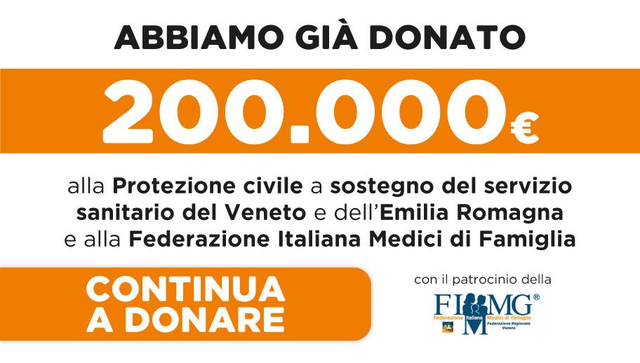 Raccolta fondi a sostegno del Servizio Sanitario Regionale del Veneto e dell'Emilia Romagna