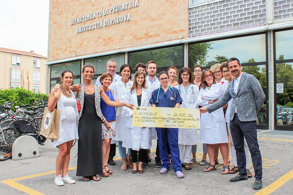 Alì e Ju'sto insieme per sostenere la Neurologia Pediatrica dell'Ospedale di Padova