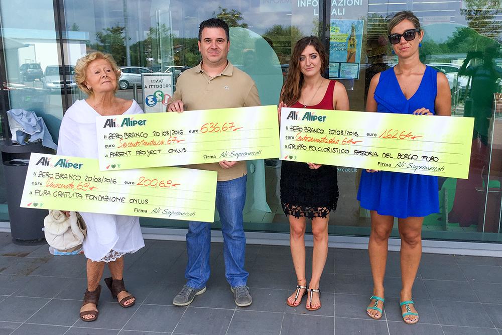 We Love People premia 3 associazioni a Zero Branco