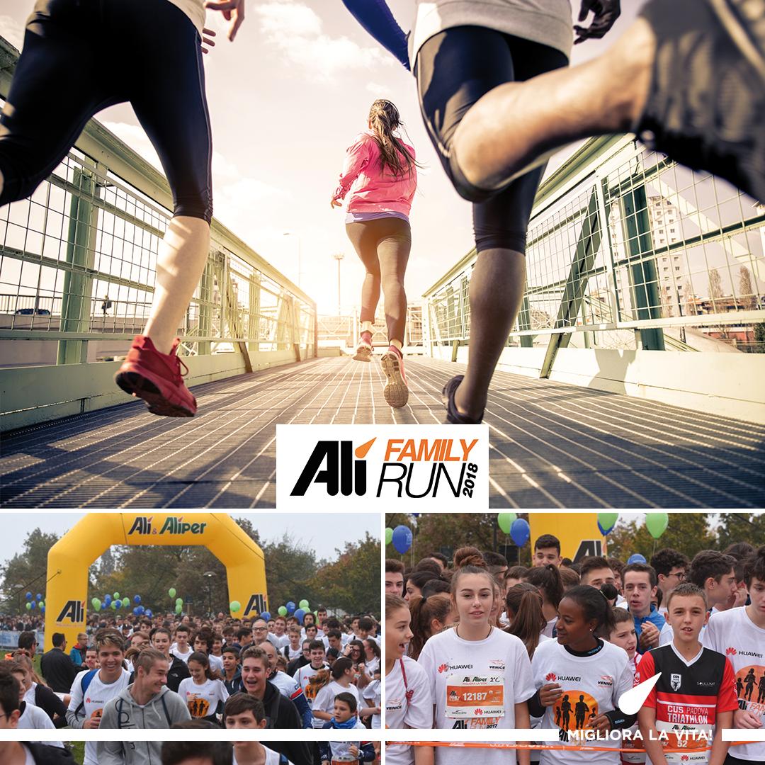 Alì Family Run, eventi di aggregazione e solidali in attesa della Venice Marathon