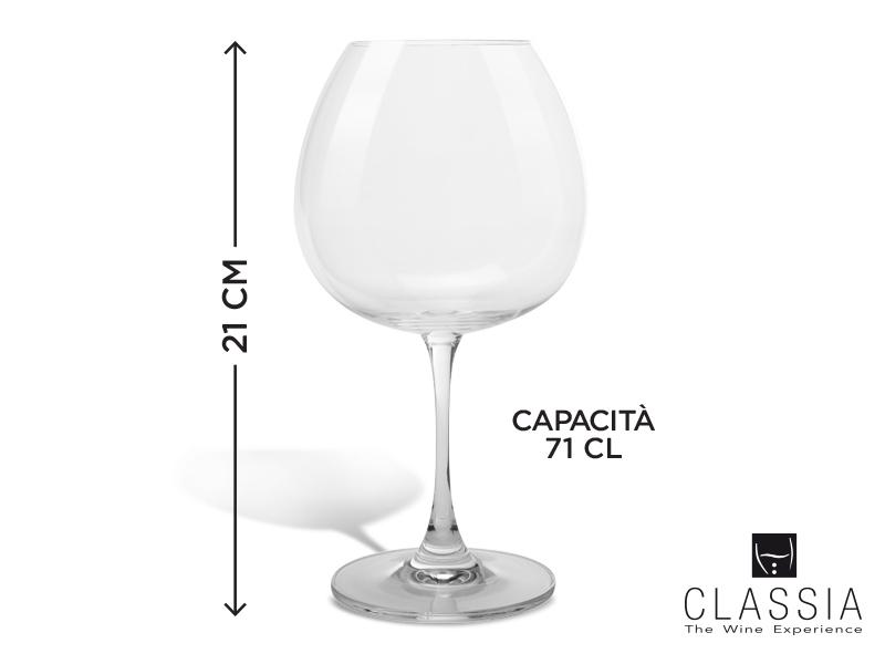 SET 6 CALICI VINO ROSSO CLASSIA