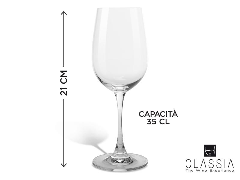 SET 6 CALICI VINO BIANCO CLASSIA