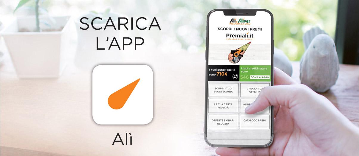 Scarica l'App Alì Supermercati