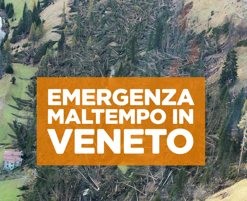 DONAZIONE EMERGENZA MALTEMPO VENETO
