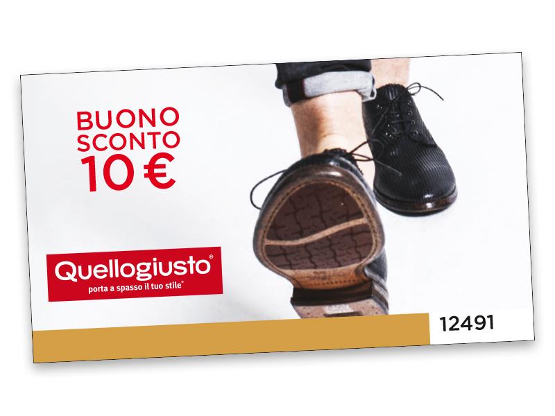 BUONO SCONTO QUELLOGIUSTO DA 10 €