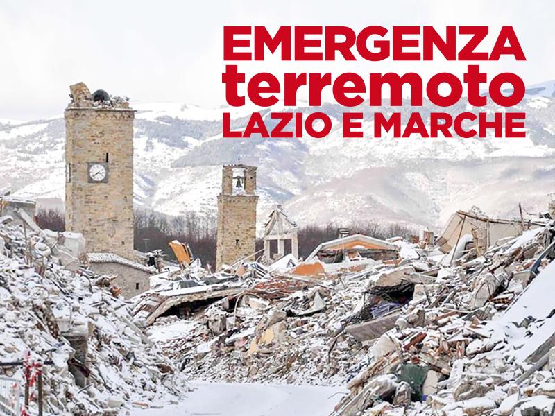 DONAZIONE TERREMOTATI CENTRO ITALIA