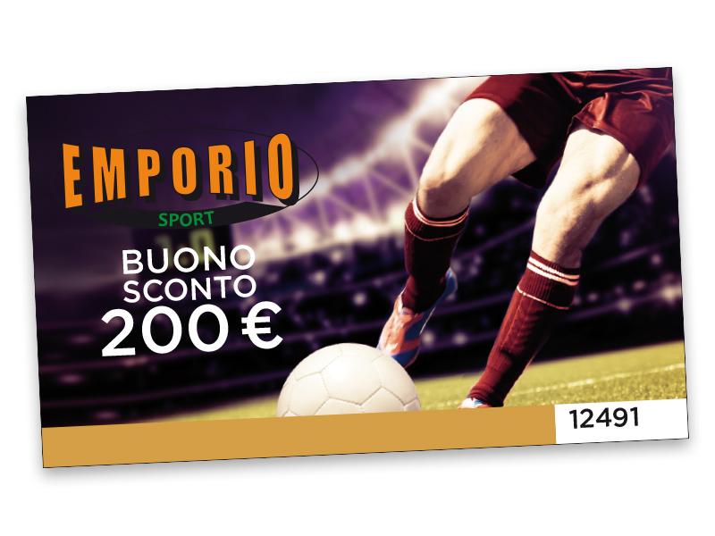 BUONO SCONTO EMPORIO SPORT DA 200 €