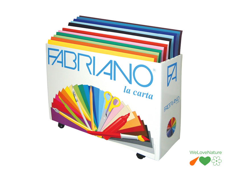 KIT 500 CARTONCINI COLORATI FABRIANO