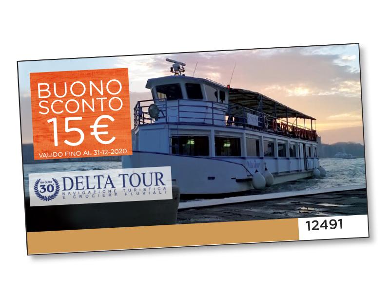 BUONO SCONTO DELTA TOUR DA 15 €