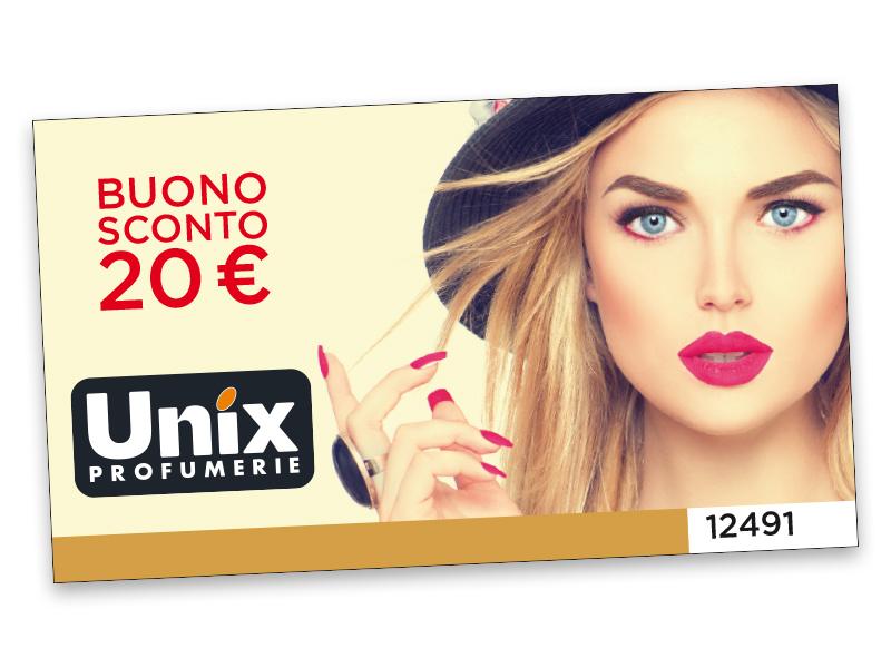 BUONO SCONTO UNIX DA 20 €
