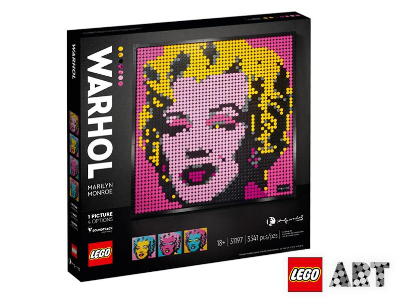 ANDY WARHOL'S MARILYN MONROE LEGO ART