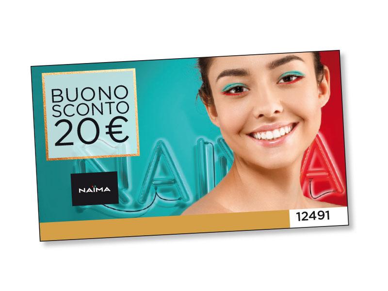 BUONO SCONTO NAÏMA DA 20 €
